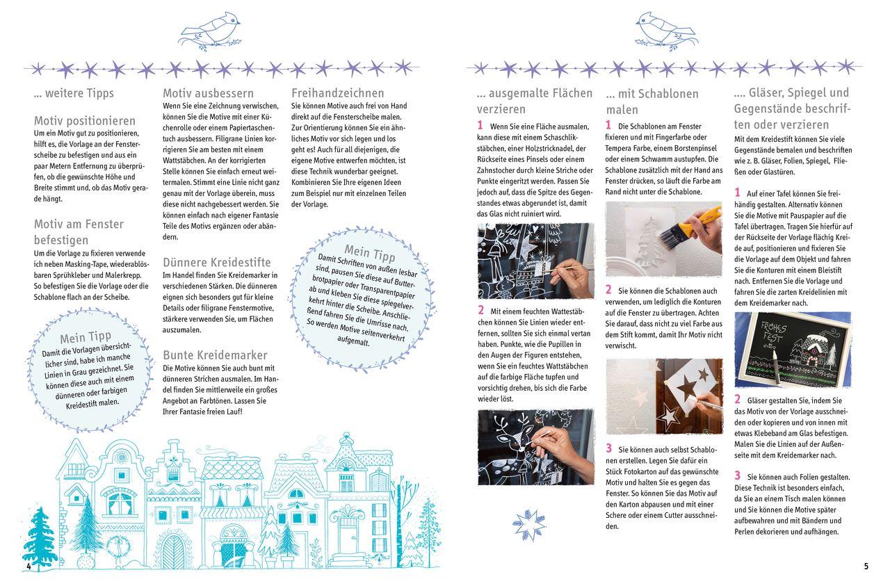Buch Fensterdeko Mit Dem Kreidemarker Weihnachten Vbs Hobby