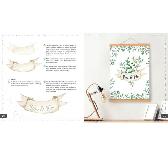 "Buch ""Watercolor meets Handlettering"""