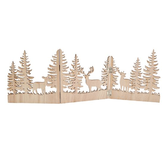 "VBS Holz-Silhouette ""Rehe im Wald"""