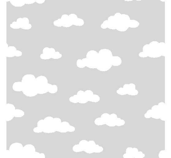 jersey stoff wolken grau wei meterware vbs hobby. Black Bedroom Furniture Sets. Home Design Ideas