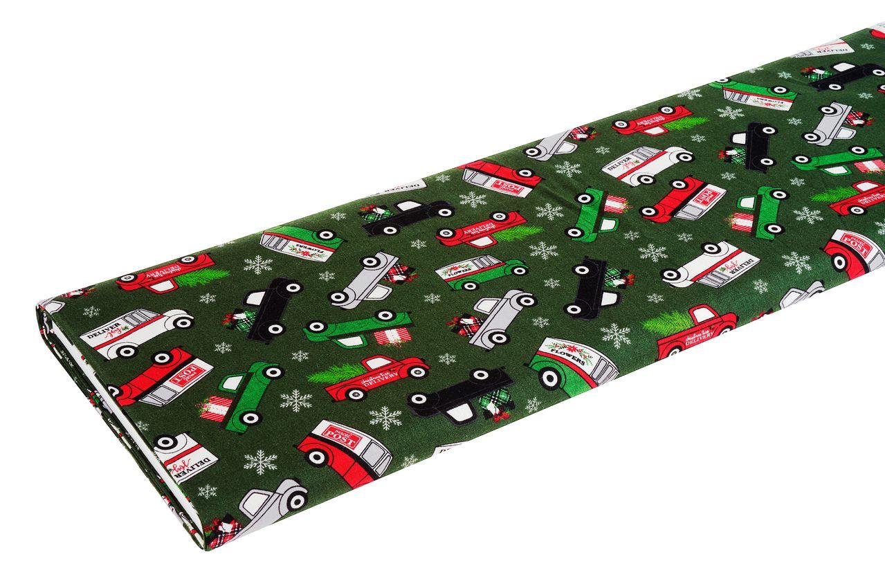 Weihnachtsstoff mit Weihnachtsboten