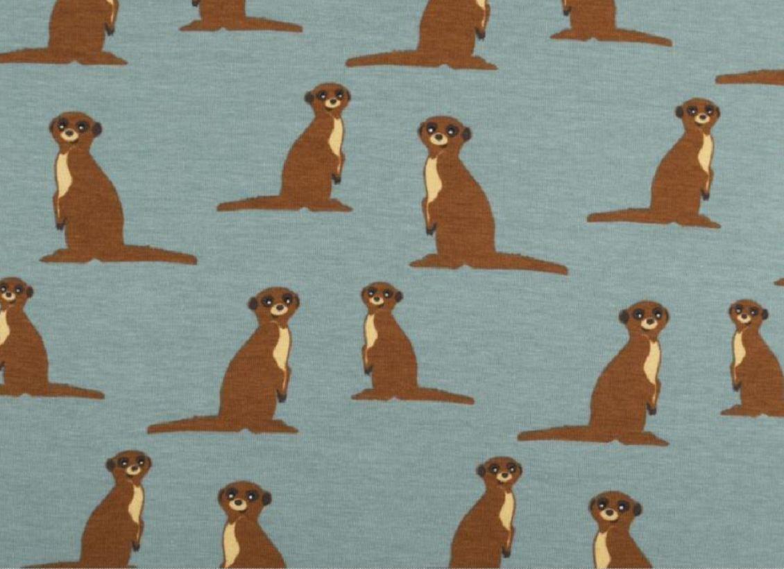 Erdmännchen-Stoff für Kissen und Kleidung