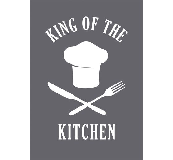 "Schablone ""King of the Kitchen"" mit Rakel"