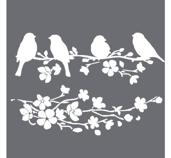 "Schablone ""Birds in Spring"""