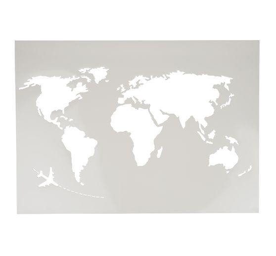 Schablone Weltkarte Xxl A2 Vbs Hobby Bastelshop