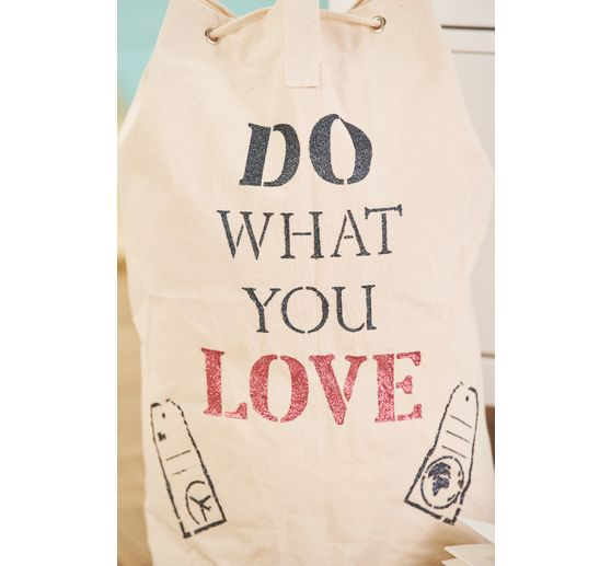 "Stamperia Schablone ""What you love"""