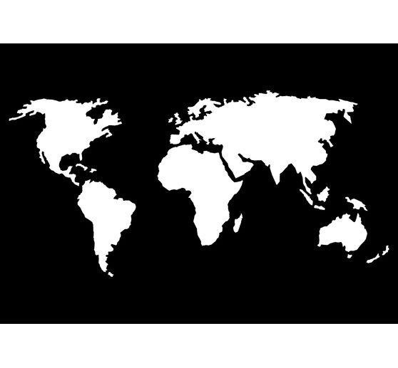 Schablone Weltkarte Vbs Hobby Bastelshop