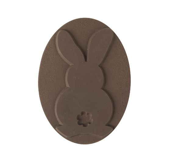 "Reliefeinlage ""Hase"", oval"