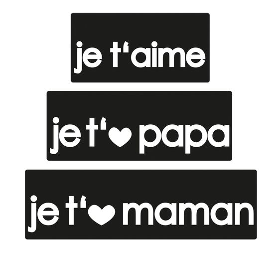 "Reliefeinlage ""je t'aime"""