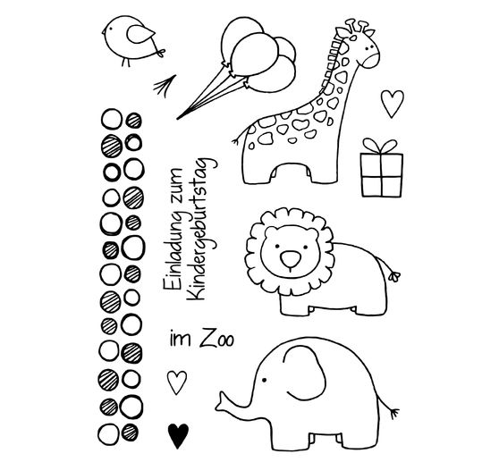 "Clear Stempel-Set ""Zoo"""