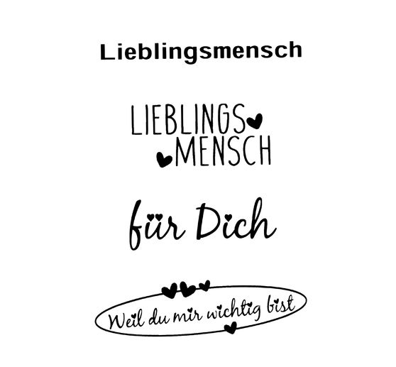 "Clear Stamps ""Lieblingsmensch"""