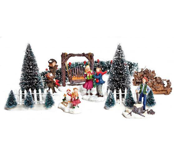 Vbs deko miniaturen set winter vbs hobby bastelshop - Winterlandschaft deko ...