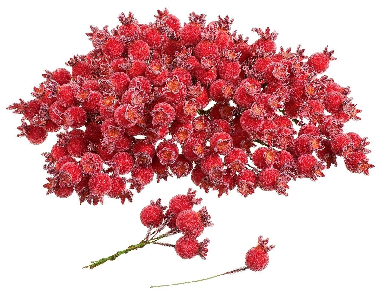 Deko-Beeren mit Draht für individuelle Kränze für Advent und Winter