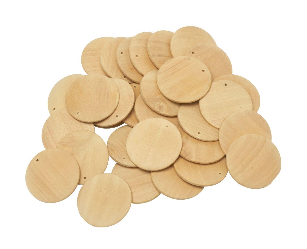 Schildchen aus Holz für die Kleiderschrankbeschriftung