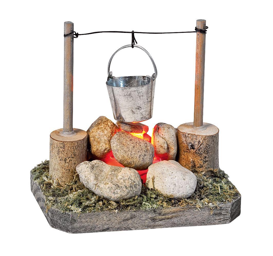 Kochfeuerstelle mit Lichteffekt