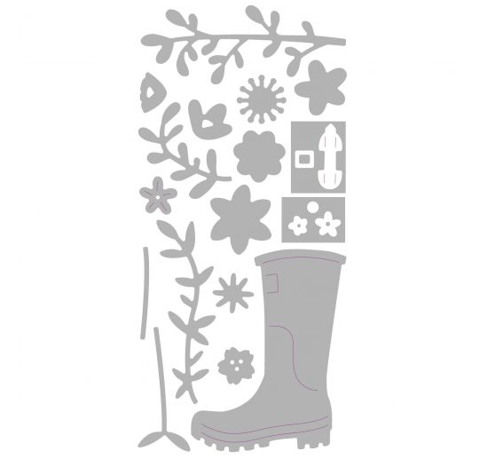 "Sizzix Thinlits Stanzschablone ""Rain Boot Planter by Olivia Rose"""