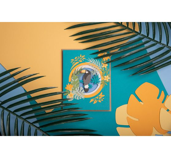 "Sizzix Thinlits Stanzschablone ""Jungle Shadow Box by Courtney Chilson"""