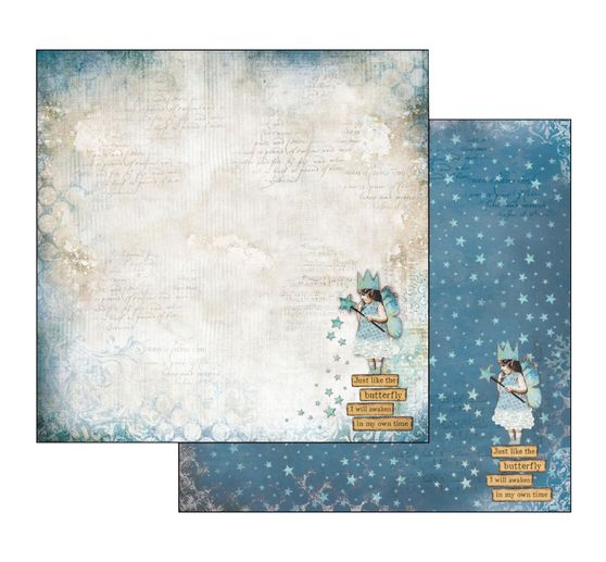 "Scrapbook-Block ""Blue Stars"""