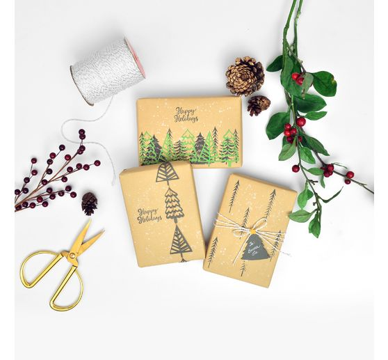 "Sizzix Framelits Stanzschablone und Clear Stamps ""Winter Trees"""