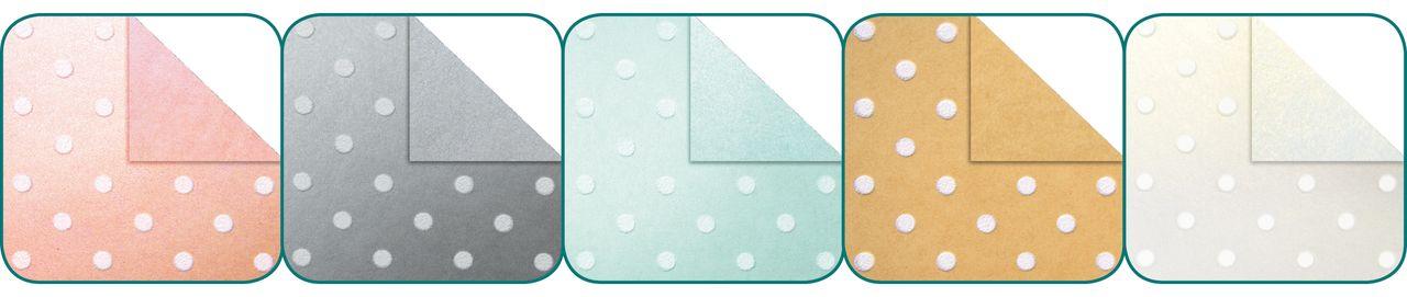 folia Kreativpapier Velourspunkte 10 Blatt 34x24cm Kartengestaltung  Papier