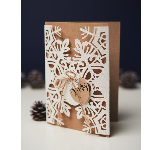 "Sizzix Thinlits Stanzschablone ""Card Wrap Snowflake by Jordan Caderao"""