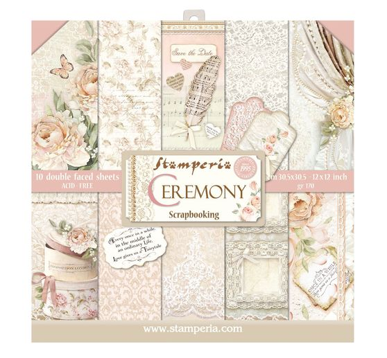 "Scrapbook-Block ""Ceremony"""