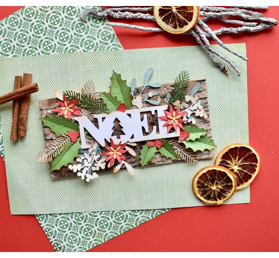 "Sizzix Thinlits Stanzschablone ""Winter Foliage"""