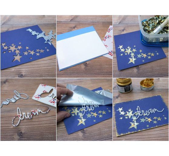 "Sizzix Thinlits Stanzschablone ""Birds and Stars"""