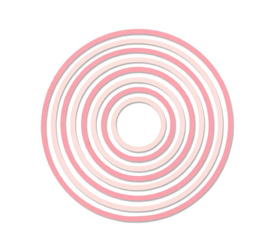 "Sizzix Thinlits Stanzschablone ""Concentric Circles"""