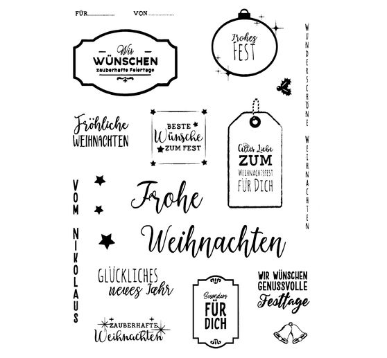 "Clear Stamps ""Frohes Fest"""