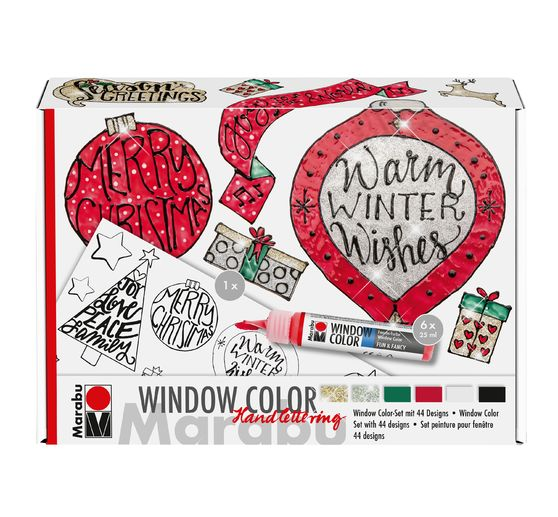 "Marabu Window Color Handlettering Set ""Xmas"""