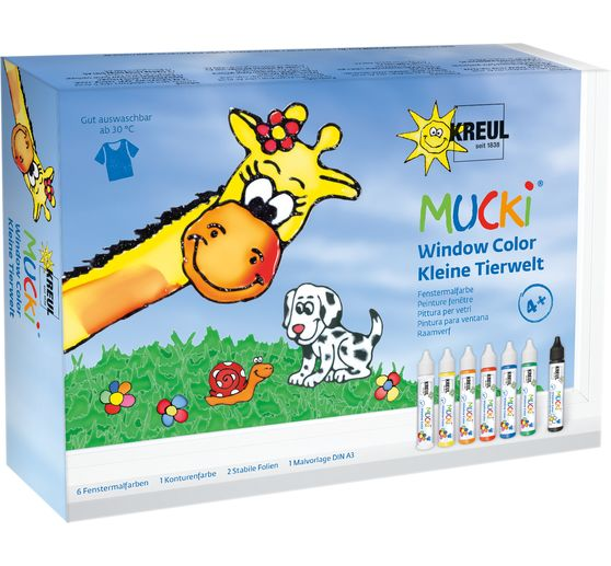 MUCKI Window Color Set Kleine Tierwelt, 7er Set