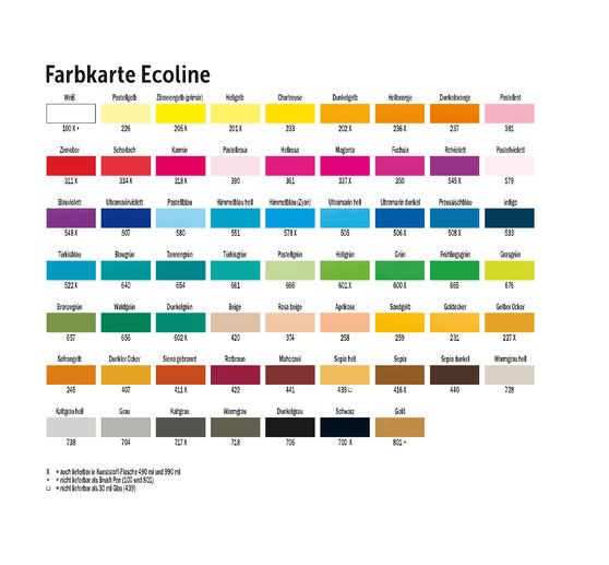 "Talens Ecoline Brush Pen Set ""10 Farben"""