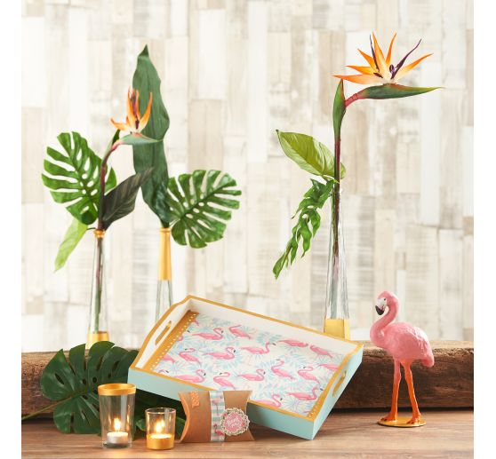 "Serviette ""Flamingo Garten"""