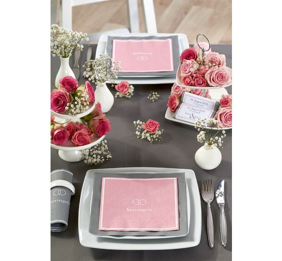 "Serviette ""Verringelt"", light rose"