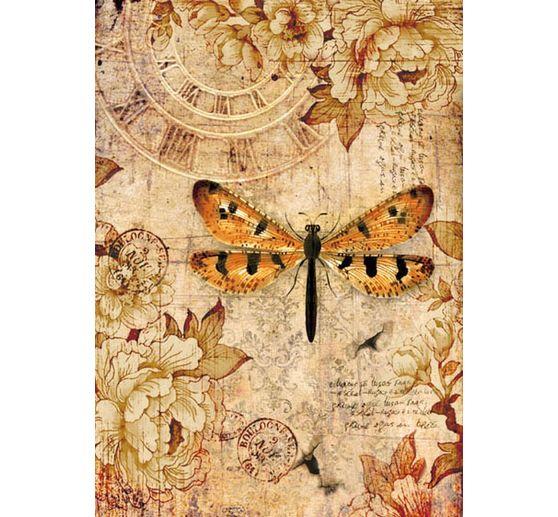 "STAMPERIA Motiv-Strohseide /""Libelle/"" DIN A4 Seidenpapier Tier"