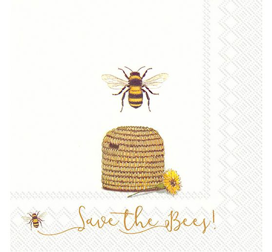 "Serviette ""Save the Bees!"""