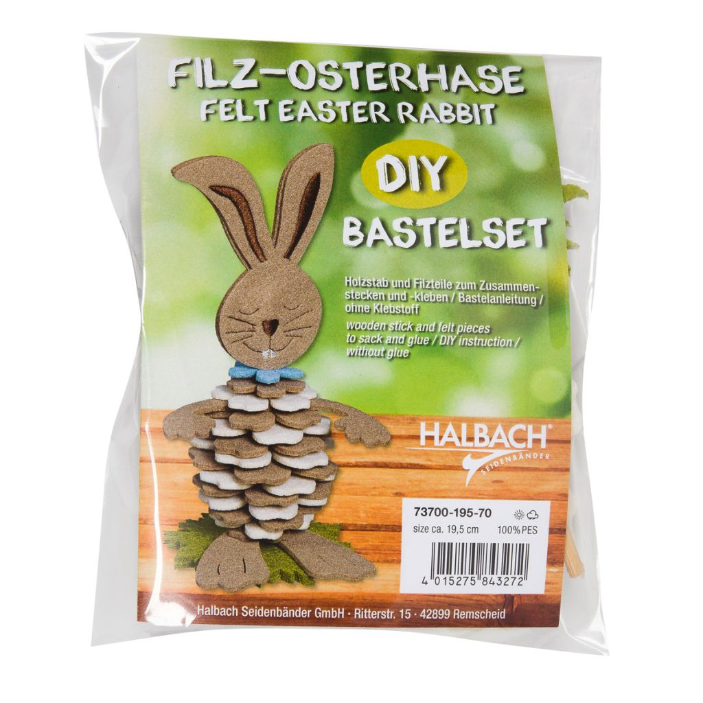"Bastel-Set /""Hase/"" Creme-Beige-Hellblau"