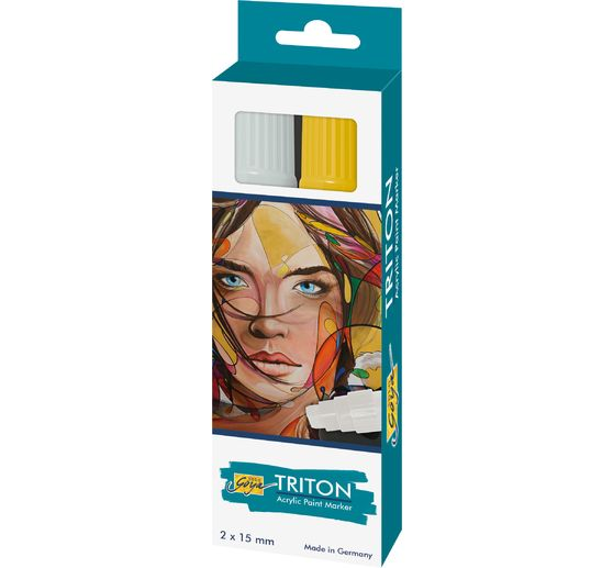 Triton Acrylic Paint Marker 15.0, 2er-Set, Silber & Gold