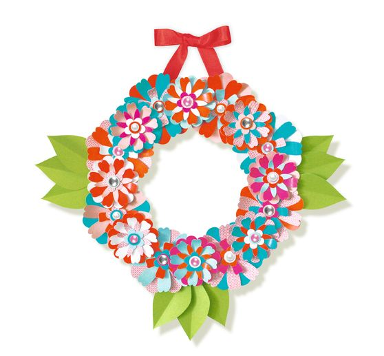 "Paper Blooming Wreath ""Summer"""