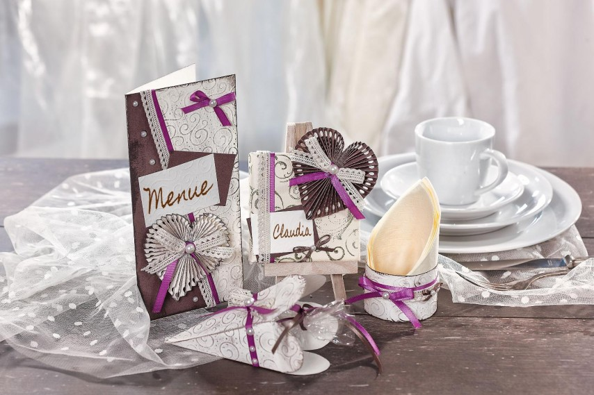 Anleitung: Hochzeitsdeko mit Herz  VBS Hobby Bastelshop