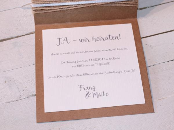Diy Hochzeitseinladungen Save The Date Karten
