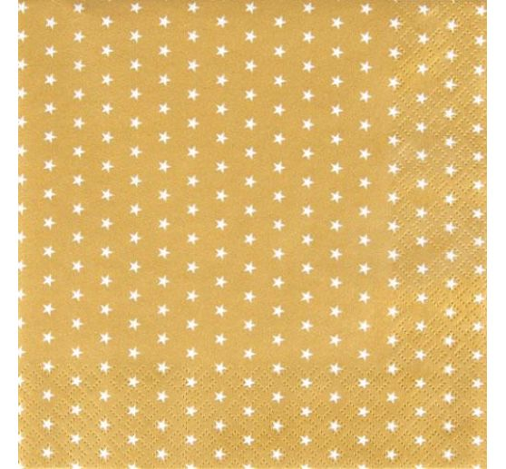 "Serviette ""Mini Stars Gold"""